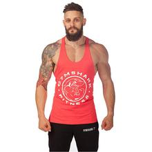 2015 Hot Brand Gym Tank Top Men Gym Shark Fit Stringer Bodybuilding Stringers Summer Style Fitness Vest Sports Mens Clothes