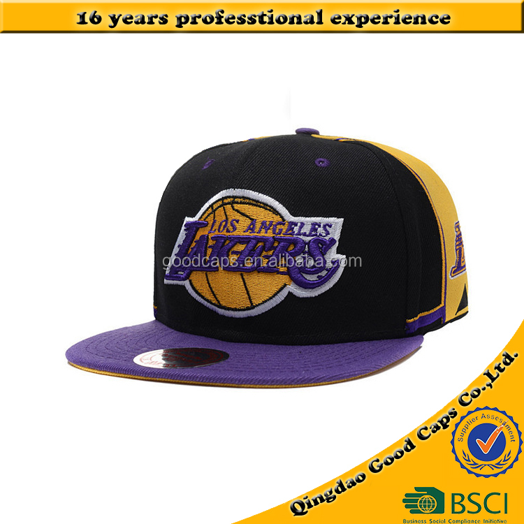 High quality basketball team logo caps and hat men custom design baseball cap embroidery sports hats