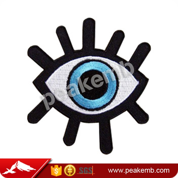 Popular Embroidery Patch Eye Laser Cutting for Clothing