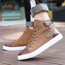 Classic men blue Wholesale Casual High Neck Sneakers Canvas Shoes
