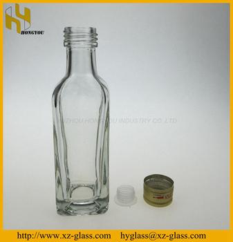 Mini empty clear glass liquor bottle wholesale buy glass for Empty mini plastic wine bottles