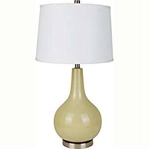 """ORE International 28"""" Ceramic Table Lamp, Beige & White - 6202BE ,,#G434G14 1T4G3484TYG438990"""