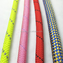 2014 new style high quality color nylon rope dog leash and harness