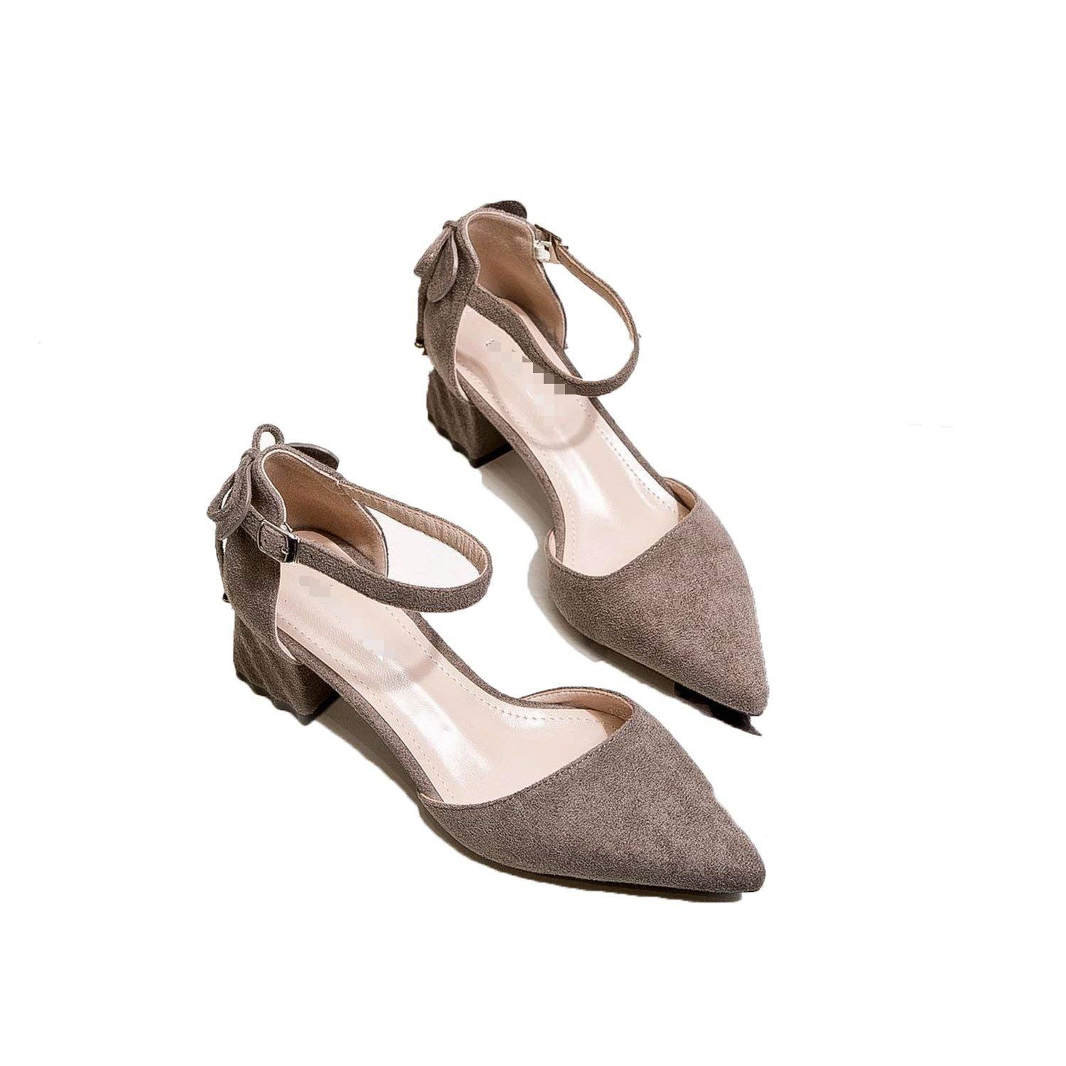 552be4d1e Get Quotations · Special-Shop Shoes Wild Lace Pointed Heel Shoes Hollow  Shallow Mouth Shoes