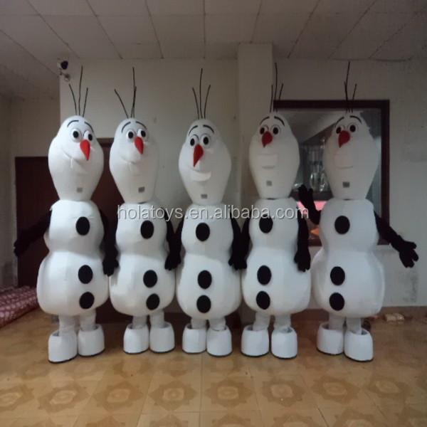 weihnachten kost m wei schneemann olaf maskottchen kost m. Black Bedroom Furniture Sets. Home Design Ideas