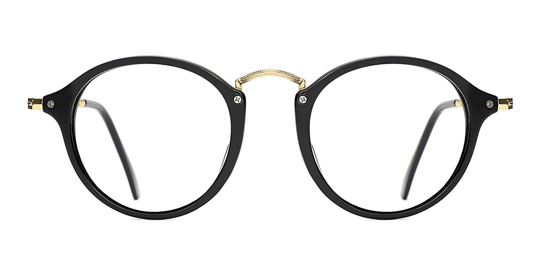 c8d04f360d648 Get Quotations · TIJN Women Vintage Round Non-Prescription Eyewear Frame  Stylish Eyeglasses