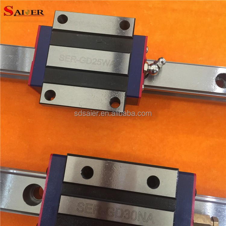 25 mm Square and Flange type slider Linear Guide Rail SER-GD25WA