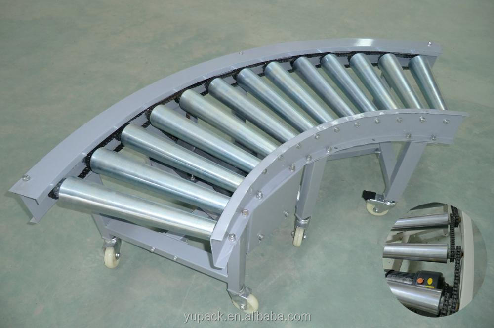 45/60/90/180 degree power curve roller conveyor line for heavy duty