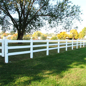 Horse Vinyl 3 Rails Post and Rail White PVC Horse Farm Fence