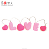 Indoor & outdoor use colorful string light heart shaped LED string light