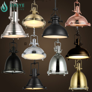 American European vintage loft black/brass/copper metal large pendant light hanging Lamp for office /hotel /restaurant