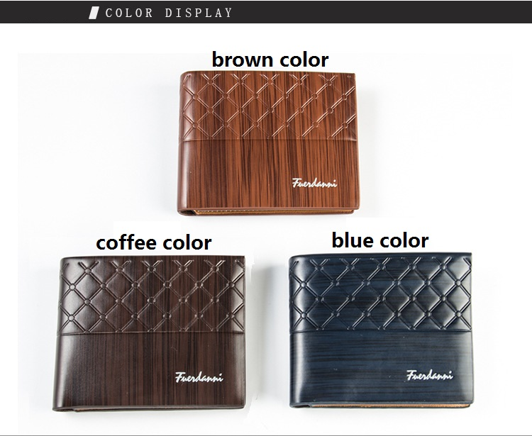 Wholesale 2018 new BEALLERRY short style PU leather men's wallets,coin purses for man