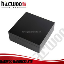 Harwoo Brand Fashion black wooden Souvenir box for business gift