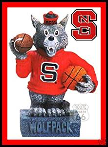 NORTH CAROLINA STATE WOLFPACK FOOTBALL BASKETBALL MASCOT NEW FIGURE FIGURINE