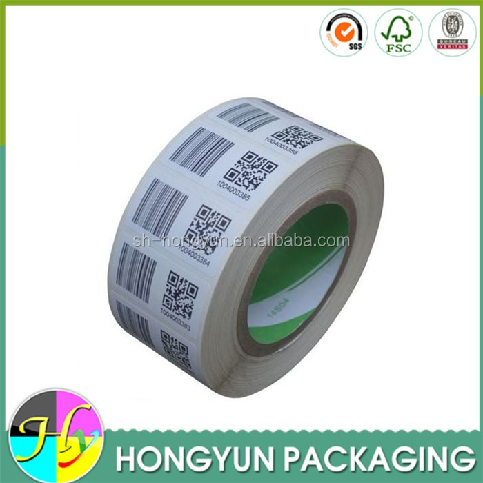 factory made cheap paper roll date code stickers