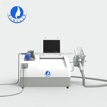 Cryolipolysis+shockwave slimming machine CW01 with a 150mm cryo handle and a new shockwave handle