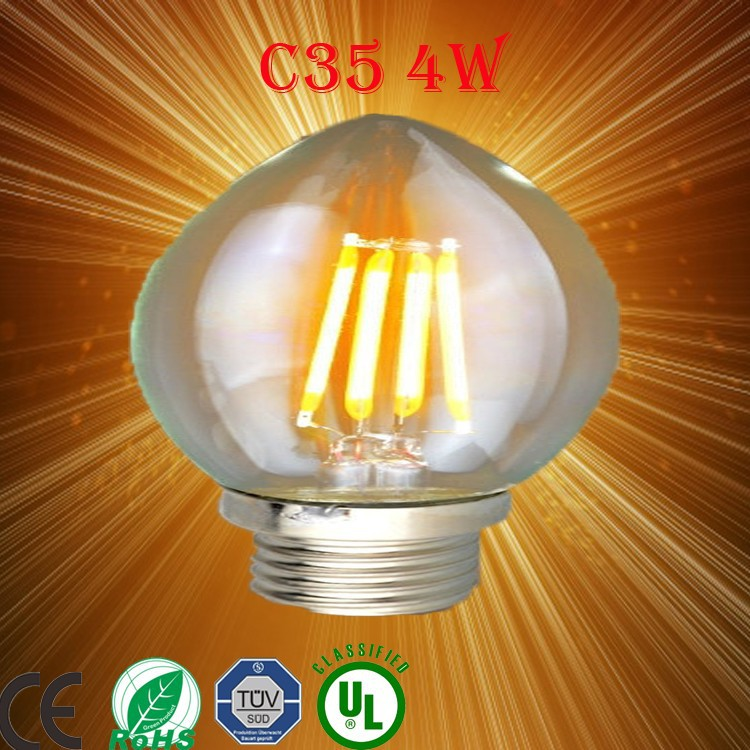 Led filament candle bulb e14, ceiling light led for pendant Christmas/party decoration