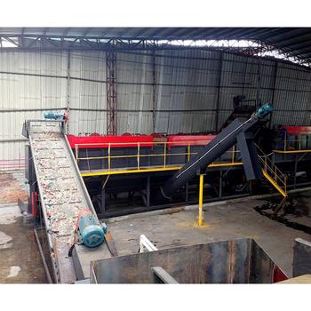 PP PE agricultural film washing  recycling line/waste plastic film crushing washing pelletizing plant machines
