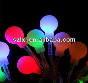 Flashing Rainbow Round Ball Led Fairy Lights String For Christmas Xmax Tree