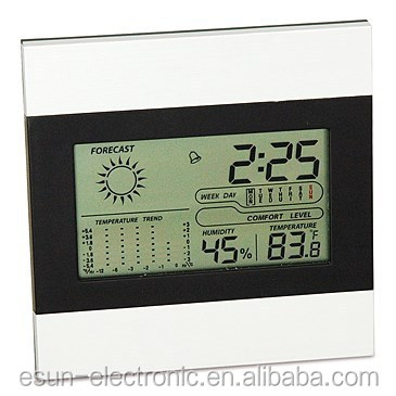 Multifunction LCD Weather Station Clock With Thermometer and hygrometer