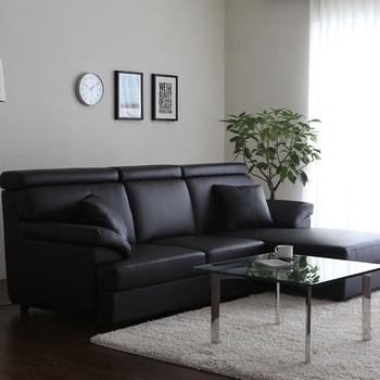 Armonia Klasik Hitam Putih Rumah Mebel Living Room Set Sofa Kulit