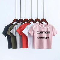 OEM Design Your Own Custom Sexy Crop Top For Women