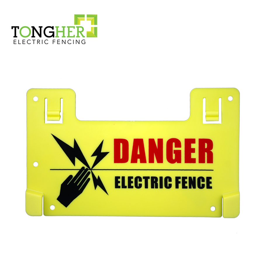 Customized Electric Fencing Warning Sign Dangerous Warning Board Caution  Boards Plastic Voltage Caution Sign - Buy Dangerous Warning Sign,Electric