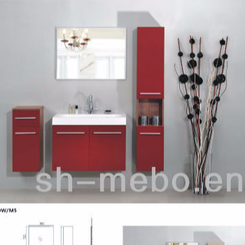 Mdf Wall Hung Bathroom Cabinet And Tall