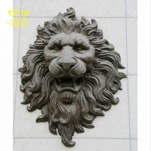 High Quality Wall water Fountain bronze Lion Head Sculpture