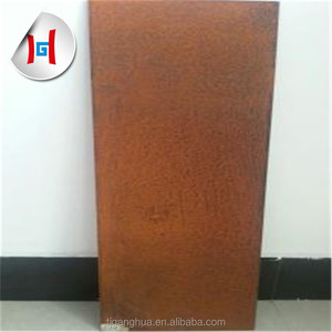 corten weather steel sheets for garden screen with frame