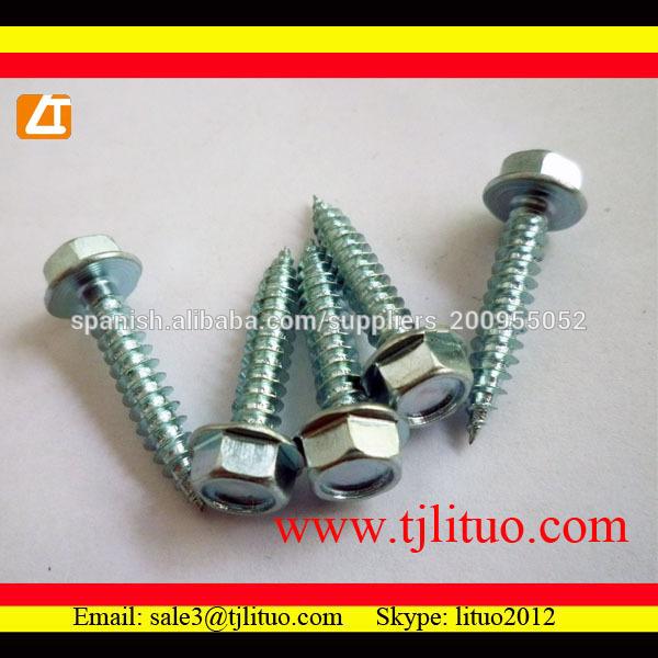 INDEX 184 ABE256332 ABE256332-Tornillo autotaladrante de cabeza hexagonal con arandela vulcanizada de Acero-EPDM 6,3 x 32 P25, 500 uds.