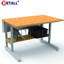 Detall woodworker workbench with wooden table top