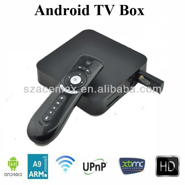 Android 4.0 internet download manager 1080P HD XBMC Internet TV with Remote DDR III 1GB 4GB Flash 3D