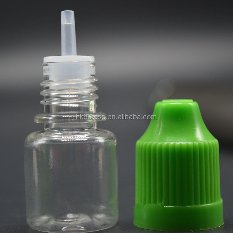 NEW PET E Liquid Bottle 3ml Small Airless Plastic Bottles With Child Proof Lid Dropper For E cigarette