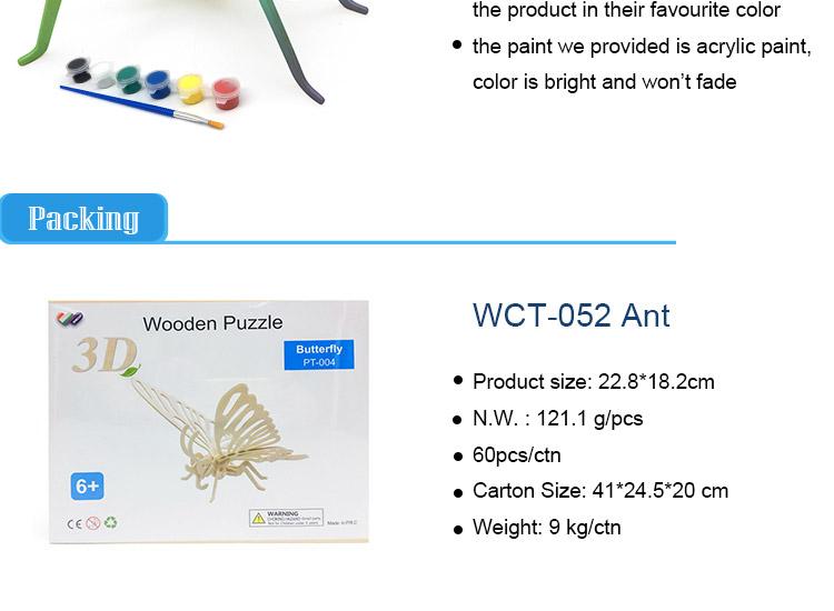 modelo De Juguete EtiquetaProduct Hormiga Rompecabezas Madera 3d On Niños Buy Aprendizaje 4AR5Lj