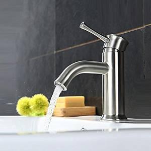Furesnts Modern home kitchen and bathroom faucet 304 stainless steel basin faucet basin sinks sink bathroom faucet brushed,(Standard G 1/2 universal hose ports)