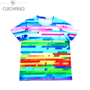 Color 3d printed tailored unisex fashion street t-shirts