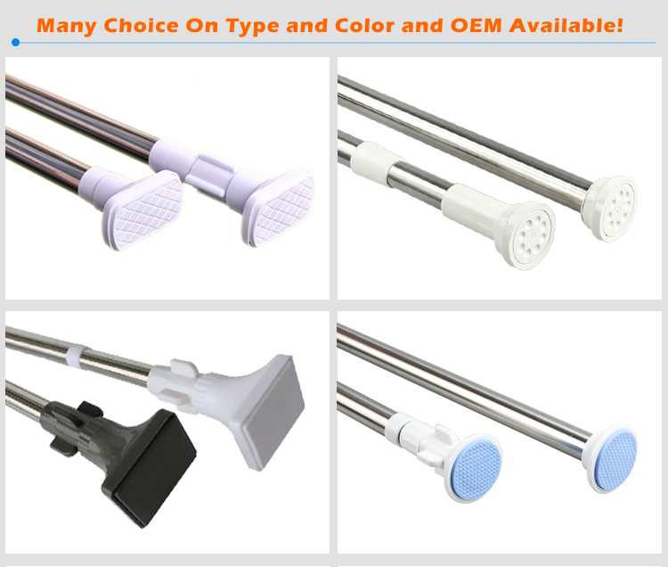 Spring Loaded Extendable Telescopic Shower Rod Adjustable Tension Curtain Rail Pole Rods Rails