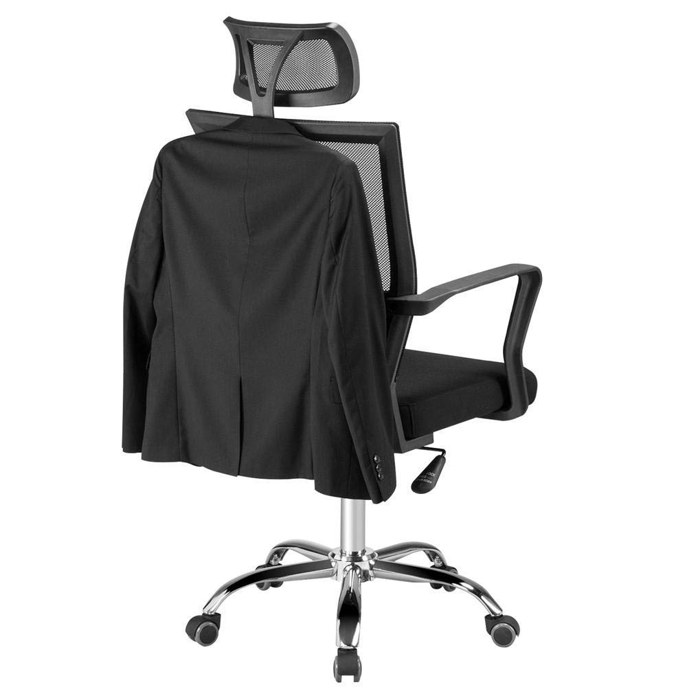 Yaheetech High-Back Executive Chair Ergonomic Mesh Office Chair Swivel with Adjustable Seat/Headrest, Lumbar Support for Home Office