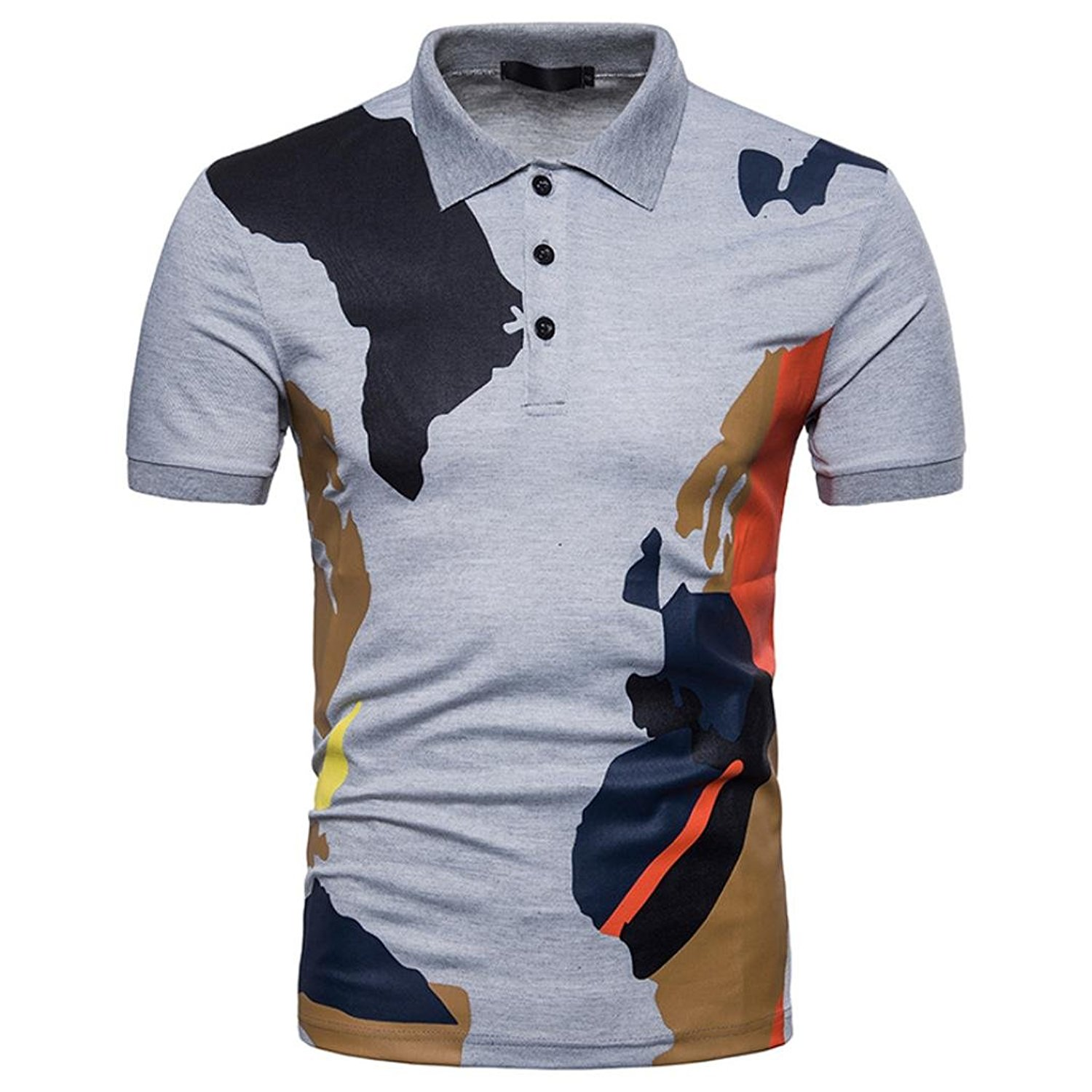 5f80b96dfe0 Get Quotations · AliveGOT Mens Casual Button Camouflage Dry Fit Golf Polo  Shirt