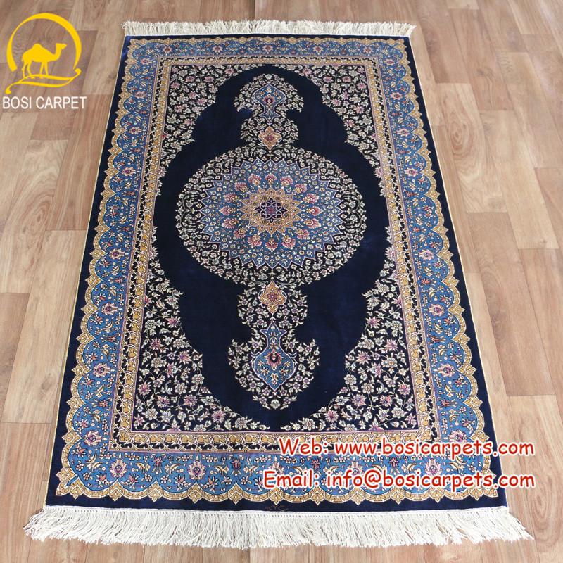 Henan Bosi 3'x5' Wholesale price handmade silk persian rug antique silk rug made in china