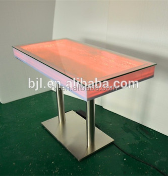 Whole Wedding Transpa Acrylic Bar Table With Color Changing