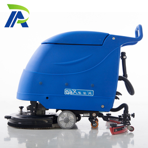Double Brushes Small Push Type Tile Used Floor Scrubber Dryer Machine