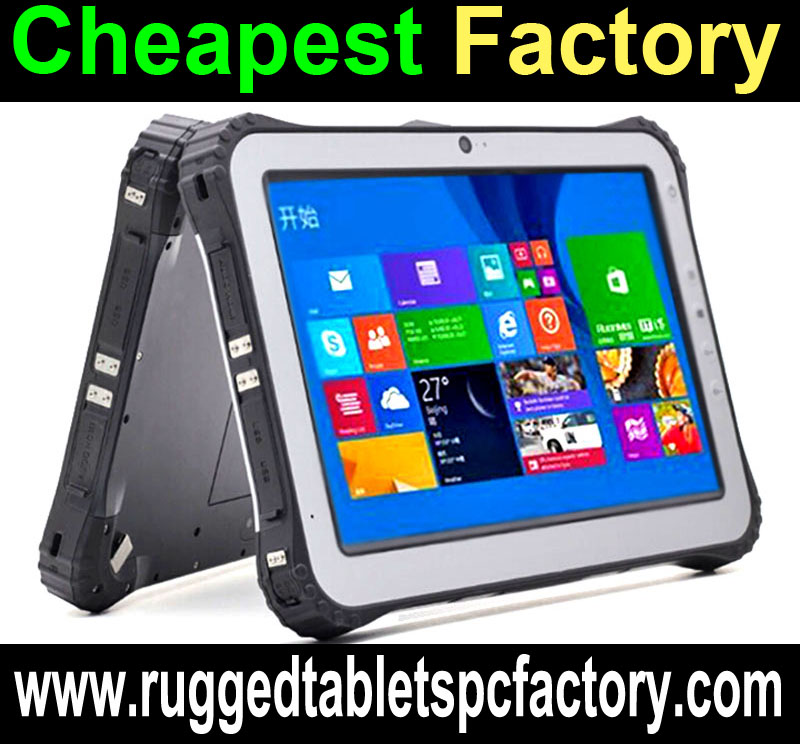 CheaP Factory Rugged Windows Tablet PC, Rugged Windows tablets Computer with 4G NFC 1D 2D Barcode Scanner Fingerprint scanner