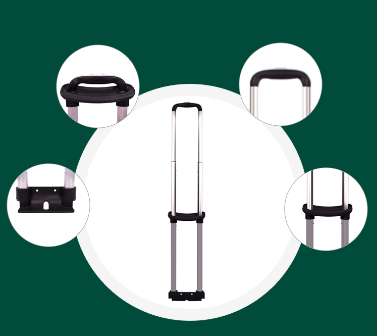 Detailed parts of luggage and travel accessories