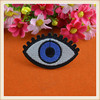 fashion design eye patch/embroidery applique iron on for coat/blouse/jeans