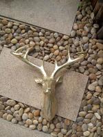 2017 Resin deer head decoration fiberglass home decoration