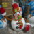 Mostpopular Home & Garden Christmas Decorative New Product Fiberglass Resin Life Size Snowman Sculpture