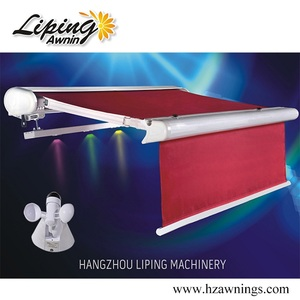 New Products For 2018 Automatic Retractable Awning With LED Lamp