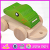 2015 new popular baby pull back car ,Hot sale item wood bear drums drag car for kids W05B093